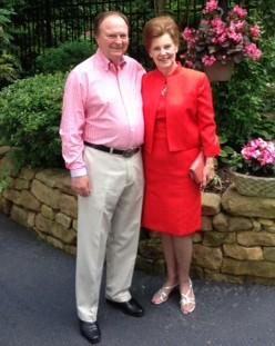 John Dobbyn with Wife in Red Dress